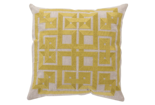 Accent Pillow-Trina Beige/Lime 20X20 - 360