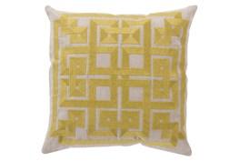 Accent Pillow-Trina Beige/Lime 22X22