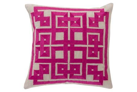 Accent Pillow-Trina Beige/Magenta 20X20
