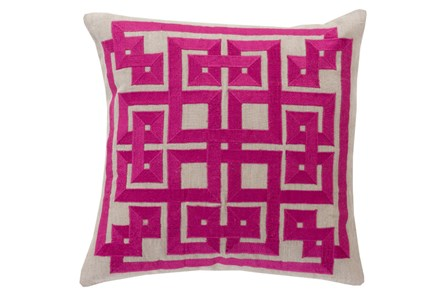 Accent Pillow-Trina Beige/Magenta 20X20