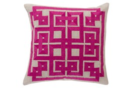 Accent Pillow-Trina Beige/Magenta 22X22