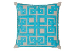 Accent Pillow-Trina Beige/Aqua 20X20