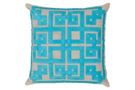 Accent Pillow-Trina Beige/Aqua 20X20