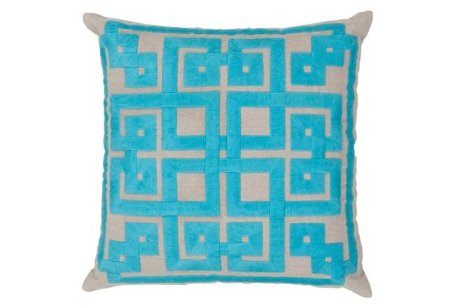 Accent Pillow-Trina Beige/Aqua 22X22 - 360