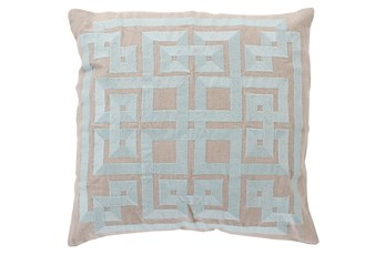 Accent Pillow-Trina Beige/Grey 20X20
