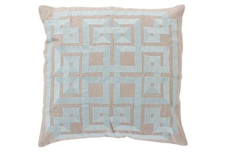 Accent Pillow-Trina Beige/Grey 22X22
