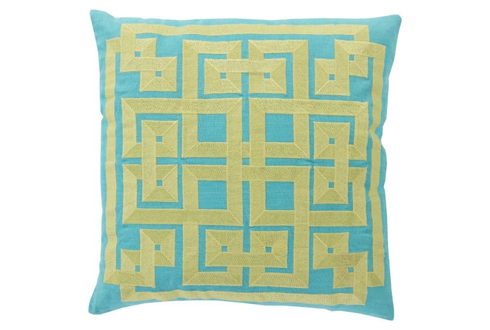 Accent Pillow-Trina Aqua/Lime 20X20
