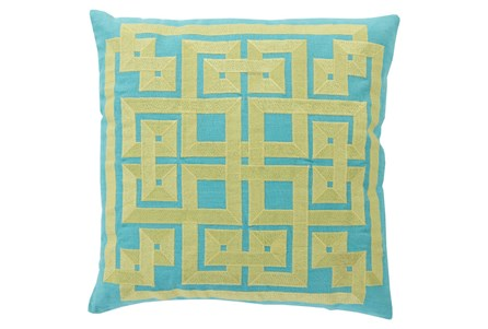 Accent Pillow-Trina Aqua/Lime 20X20