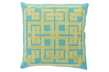 Accent Pillow-Trina Aqua/Lime 22X22