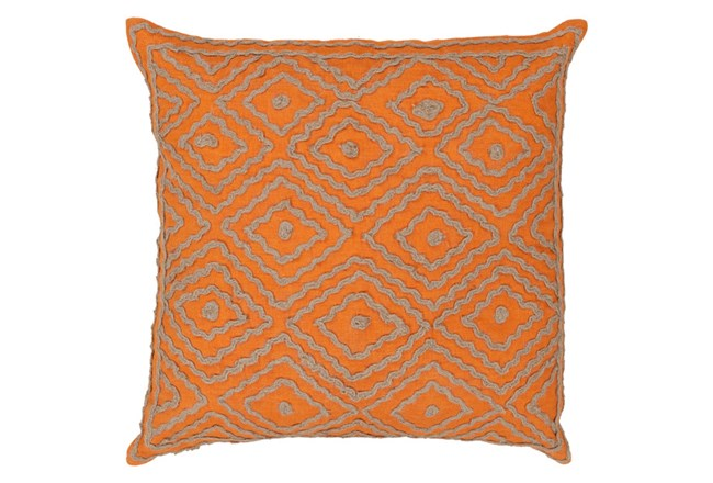 Accent Pillow-Patin Orange 18X18 - 360