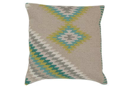 Accent Pillow-Azteca Beige Multi 20X20