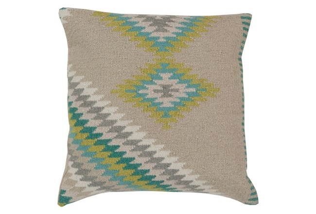 Accent Pillow-Azteca Beige Multi 20X20 - 360
