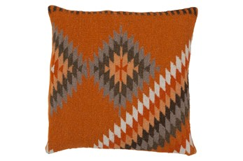 Accent Pillow-Azteca Orange Multi 22X22