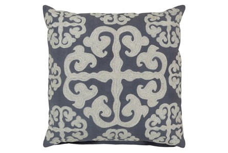 Accent Pillow-Lorena Grey 18X18
