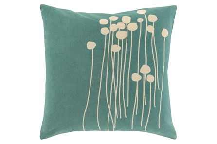 Accent Pillow-Dandelion Seafoam 18X18 - Main