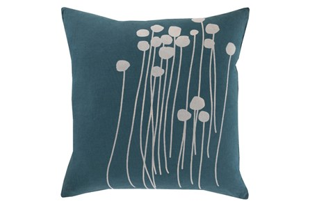 Accent Pillow-Dandelion Teal 18X18 - Main