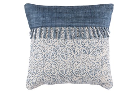 Accent Pillow-Tori Denim Fringe 20X20