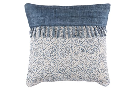 Accent Pillow-Tori Denim Fringe 20X20 - Main