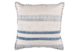 Accent Pillow-Lily Denim Stripes 20X20