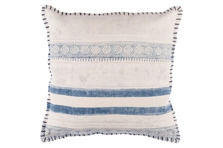 Accent Pillow-Lily Denim Stripes 20X20 - Main