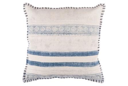 Accent Pillow-Lily Denim Stripes 20X20 - Main