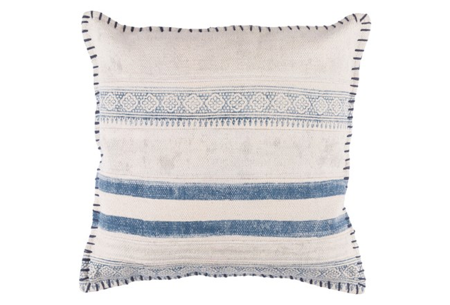 Accent Pillow-Lily Denim Stripes 20X20 - 360