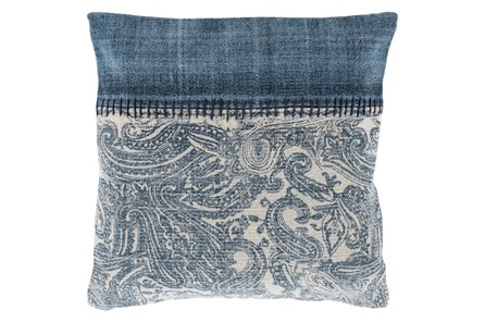 Accent Pillow-Henley Denim Paisley 20X20 - Main