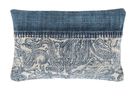 Accent Pillow-Henley Denim Paisley 14X22