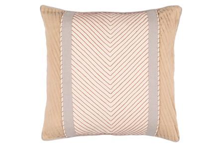 Accent Pillow-Polly Tan Stripe 18X18