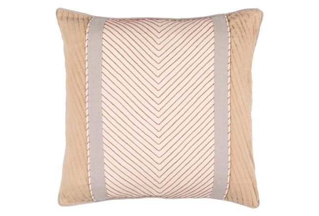 Accent Pillow-Polly Tan Stripe 18X18 - 360