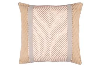 Accent Pillow-Polly Tan Stripe 20X20