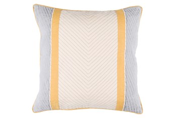 Accent Pillow-Polly Yellow Stripe 18X18