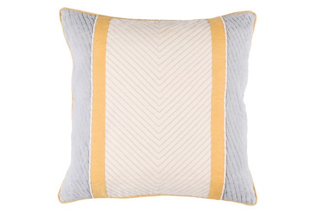 Accent Pillow-Polly Yellow Stripe 18X18 - 360