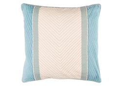 Accent Pillow-Polly Blue Stripe 18X18