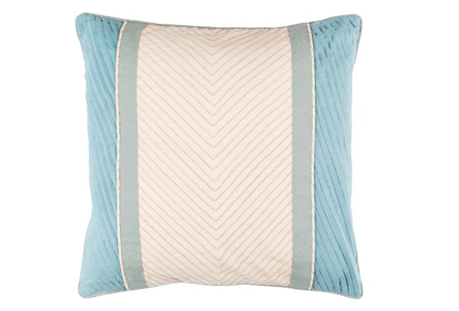 Accent Pillow-Polly Blue Stripe 18X18 - 360