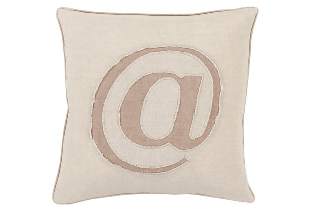 Accent Pillow-Atmark Khaki 18X18