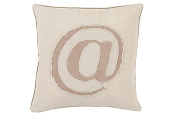 Accent Pillow-Atmark Khaki 18X18