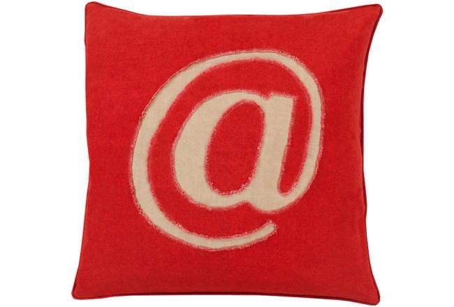 Accent Pillow-Atmark Cherry 18X18 - 360