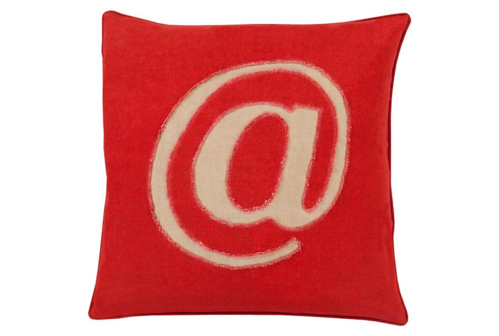 Accent Pillow-Atmark Cherry 22X22