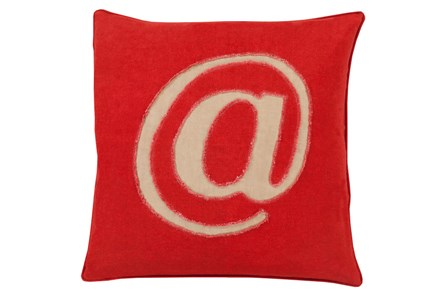 Accent Pillow-Atmark Cherry 22X22