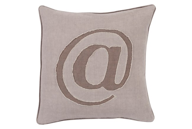 Accent Pillow-Atmark Taupe 18X18 - 360