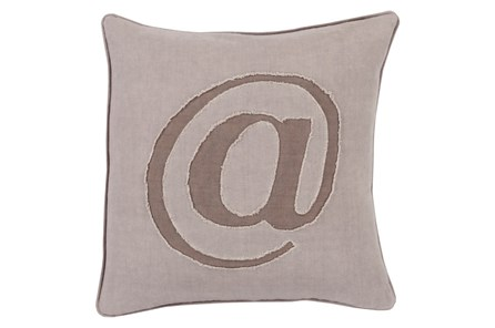 Accent Pillow-Atmark Taupe 20X20
