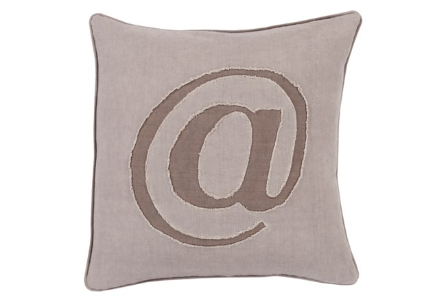 Accent Pillow-Atmark Taupe 20X20 - 360