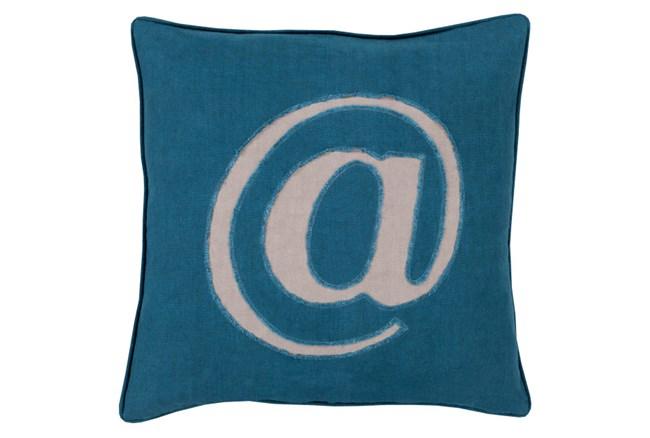 Accent Pillow-Atmark Navy 18X18 - 360