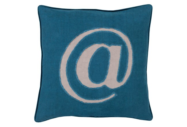 Accent Pillow-Atmark Navy 20X20 - 360