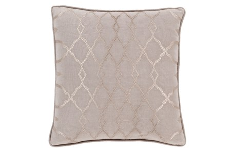 Accent Pillow-Karissa Taupe 22X22 - Main