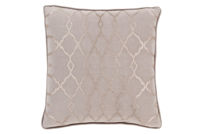 Accent Pillow-Karissa Taupe 22X22 - 360