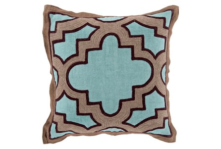Accent Pillow-Marciano Teal/Black 18X18