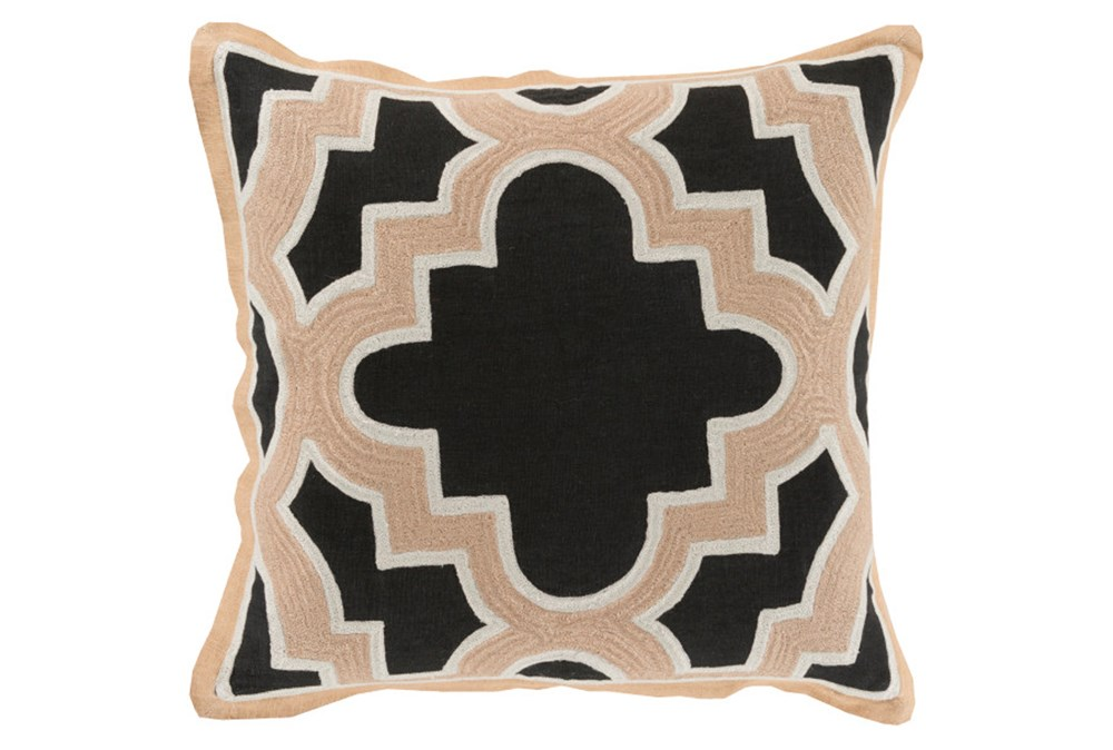 Accent Pillow-Marciano Black/Beige 20X20