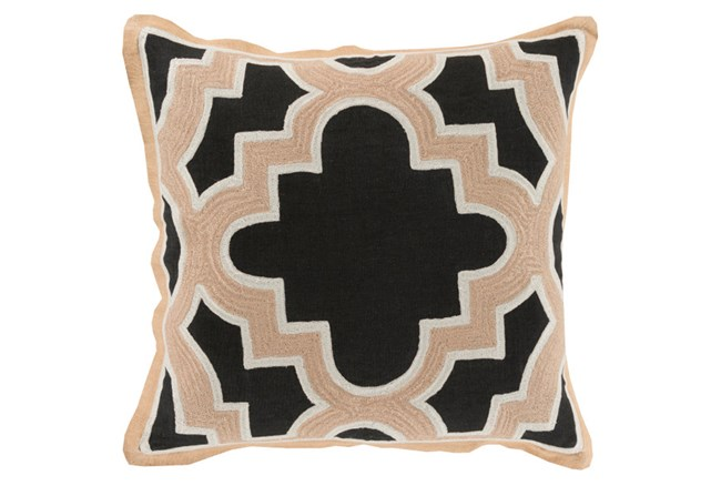 Accent Pillow-Marciano Black/Beige 20X20 - 360